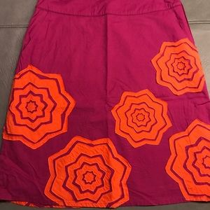 Boden A Line Floral Applique Fun Skirt Sz 6
